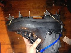 Rock Climbing Photo: Left boot and crampon
