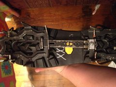 Left boot and crampon