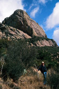 Rock Climbing Photo: Robert Peterson on the hiking trail on the west si...