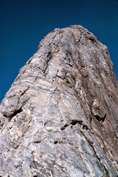Rock Climbing Photo: Looking up at the steep part