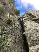 Rock Climbing Photo: No need to chimney, you can actually stem most of ...
