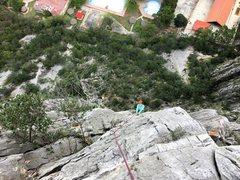 Rock Climbing Photo: Pitch 3.  Fun and a wee bit run out near the top. ...