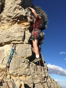 Rock Climbing Photo: Sam leads the exposed ridge for a short pitch. Als...