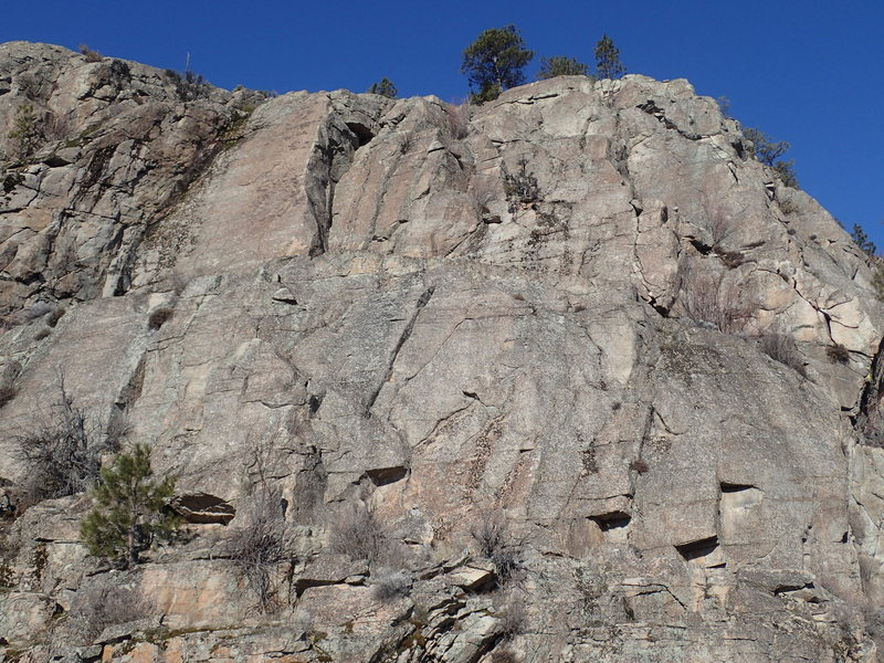 Rock Climbing Photo: Right side of Banded Wall
