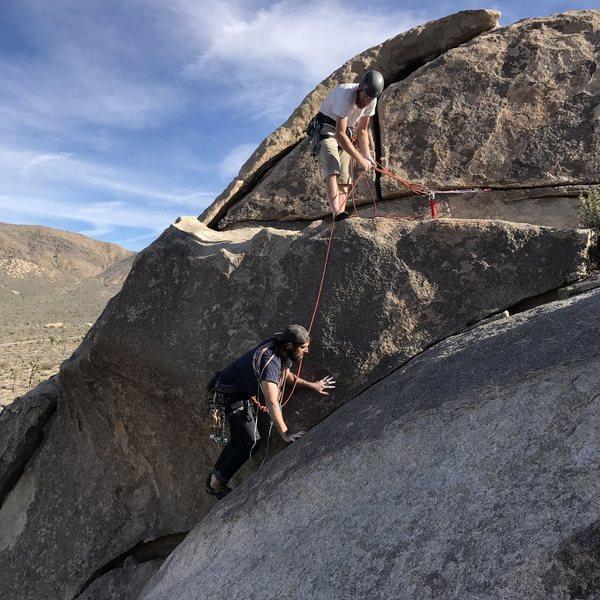 Rock Climbing Photo: Taco Belaying James up False Lieback