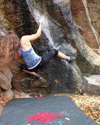 Rock Climbing Photo: Black Boulder Problem V5