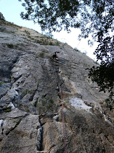 well below the crux