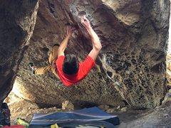 Rock Climbing Photo: Troy Fauteux entering the dragon.