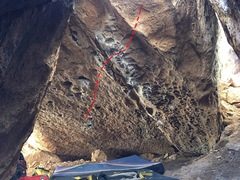 Rock Climbing Photo: Start low on two good pockets