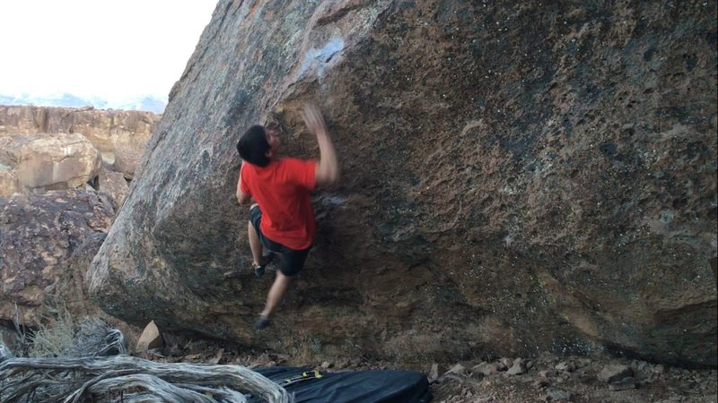 Going for it...<br> <br> Climber: Troy Fauteux