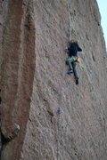 Rock Climbing Photo: clipping the anchors all run out 40+m high on Main...
