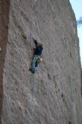 Rock Climbing Photo: Fighting for my first RP on the sporty 45M line Ma...