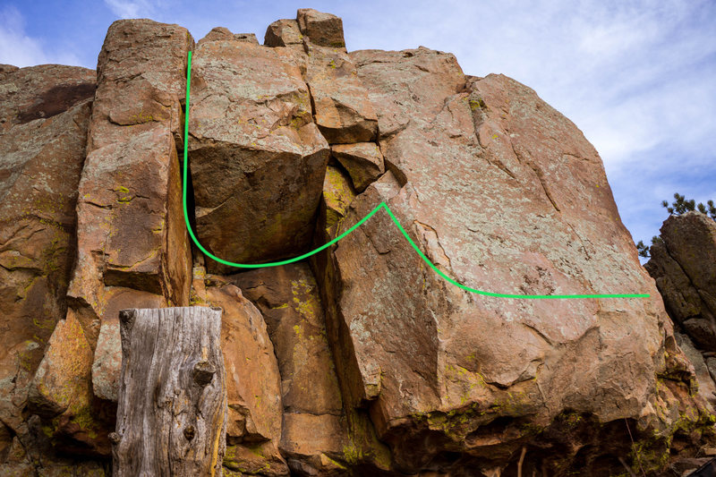 Rock Climbing Photo: Tango route.