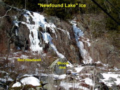 Rock Climbing Photo: Newfound Lake Ice - on the side of Mt Sugarloaf