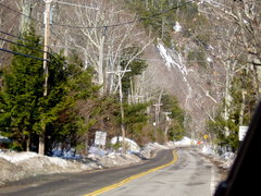 Rock Climbing Photo: View from a parking pull-out 1/3 mile south of cra...