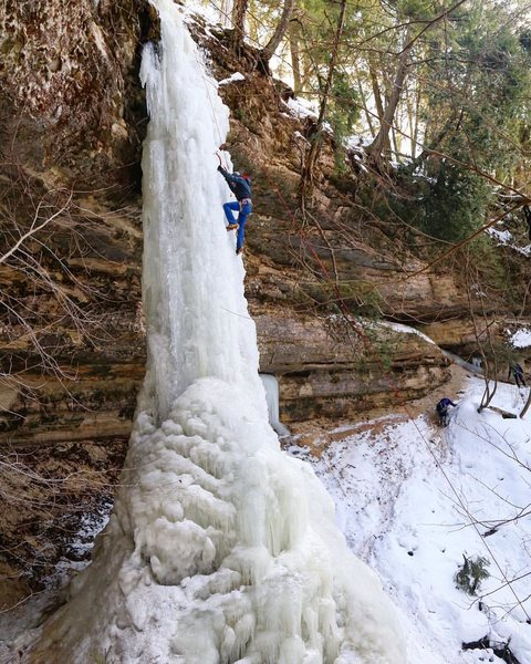 Ice conditions weren't the best, but was a nice climb.