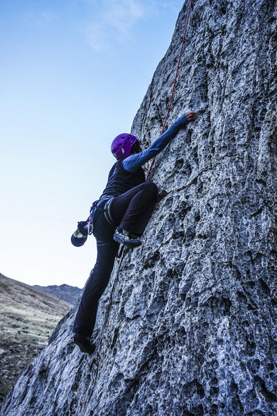 Rock Climbing Photo: Gigi climbs Beauty Pageant.