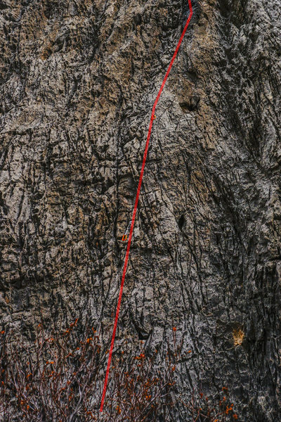 Rock Climbing Photo: Water Witch lower.