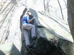 Rock Climbing Photo: Joe M. working the arête way back when...
