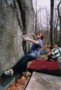 Rock Climbing Photo: Joe McLoughlin trying hard on the Polypluker.  Pho...