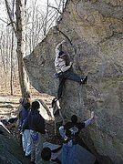 Rock Climbing Photo: Joe Kinder nearing the top of the Tombstone Highba...