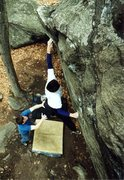 Rock Climbing Photo: Kozo Nozawa sticking the dyno.  Photograph by Joe ...