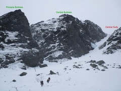 Rock Climbing Photo: Central Gully RT and the start of Pinnacle Gully b...