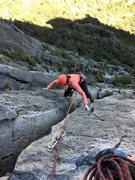 Rock Climbing Photo: Second half of the 2nd pitch... as you can see, yo...