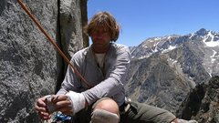 Rock Climbing Photo: Eric Gabel on top of the first pitch of the Gabel-...