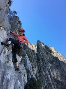 Rock Climbing Photo: if you stop at the chains at the top of the 6th, y...