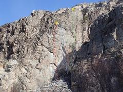 Rock Climbing Photo: Sweet Spot Slot topo