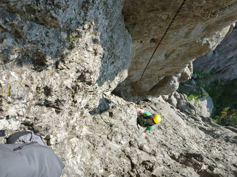 First pitch of Regular Conn Route of Obelisk - 5.7 (Second pitch is 5.8.)