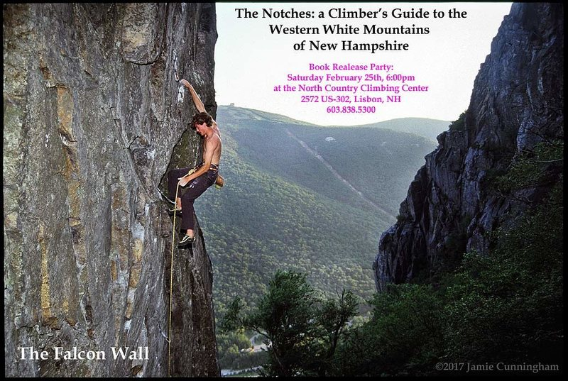 David Sharratt on the Falcon Wall in Franconia Notch, New Hampshire. The wall is directly across the scree field from The Eaglet.
