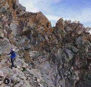 Rock Climbing Photo: Traversing saw tooth