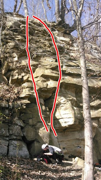 violation and violation direct. 5.5 trad, can set up toprope easy.