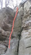 Rock Climbing Photo: great rout