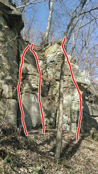 Rock Climbing Photo: Far left