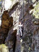 "Rock Climbing Photo: S Matz on ""Jugular"" showing the START"