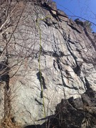 Rock Climbing Photo: The whole route