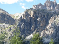Rock Climbing Photo: Southern end of the fanes Group, with Falzarego To...