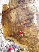 Rock Climbing Photo: BSR02  An (unknown to me) climber starts up to cle...