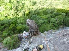 Rock Climbing Photo: Starting up pitch 2