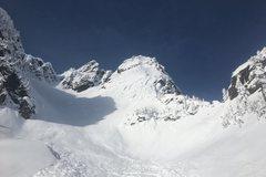 Rock Climbing Photo: A very snowy Chair Peak on Feb 24, 2017