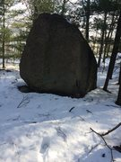 Rock Climbing Photo: One of the boulders on the top of the hill near th...