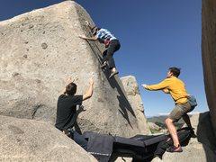 Rock Climbing Photo: 3rd ascent send train