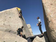 Rock Climbing Photo: Adam sending the sweet arête