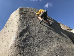 Rock Climbing Photo: Adam sending... this route can be easier by using ...