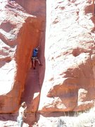 Rock Climbing Photo: James entering the stemming section