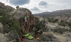 Rock Climbing Photo: Ascending Trappist.