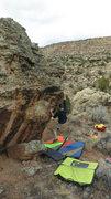 Rock Climbing Photo: Arien S. working his way up Frodo.